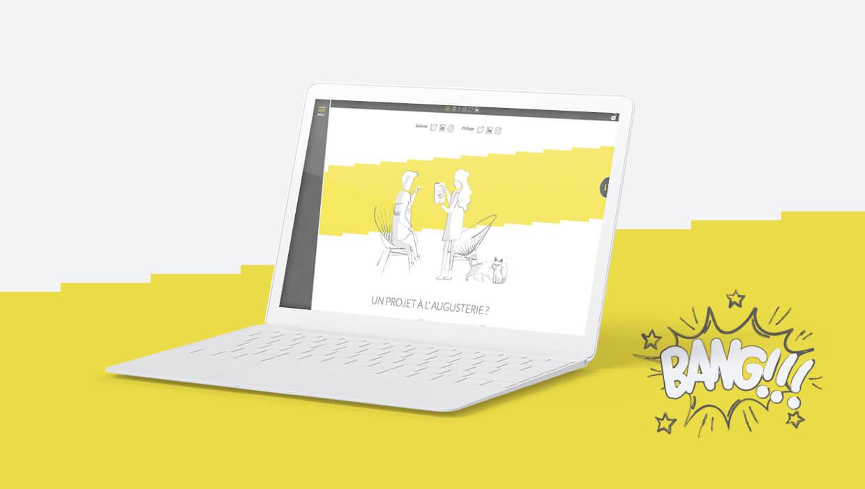 augusterie, création webdesign