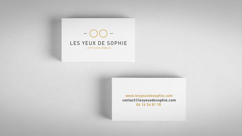LES YEUX DE SOPHIE, CARTE DE VISITE