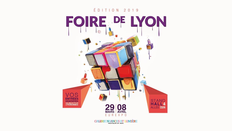 galerie nuances et lumière, Foire de Lyon, création graphique