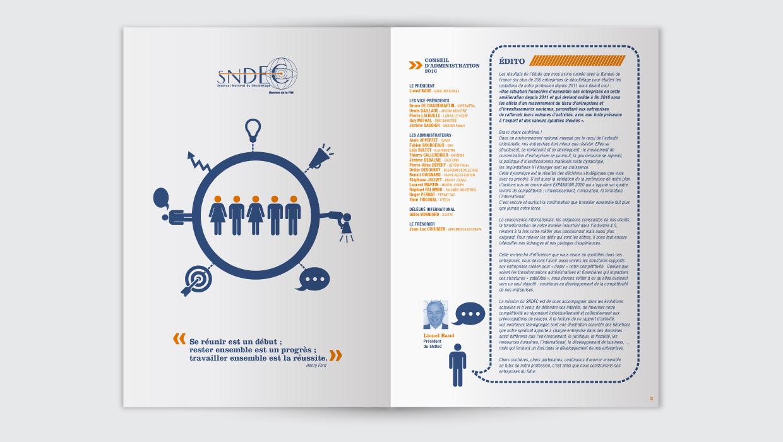 SNDEC, rapport annuel, graphisme