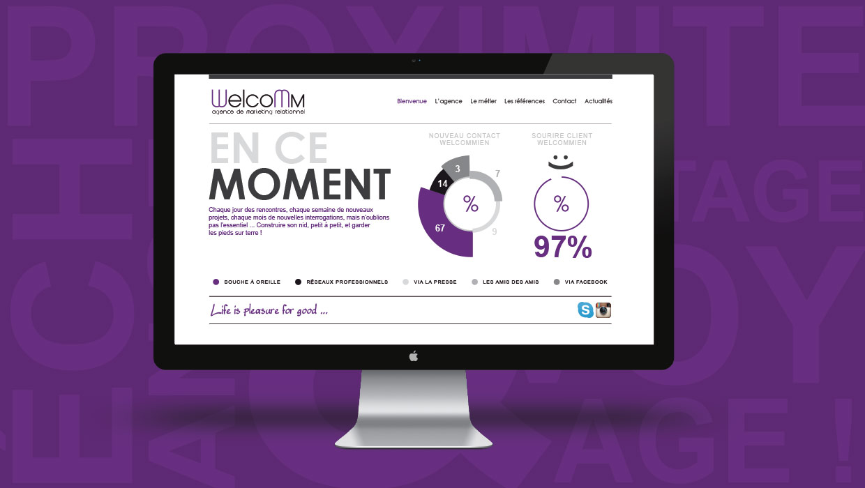 Welcomm, création site internet