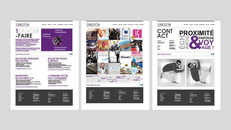 Welcomm, webdesign