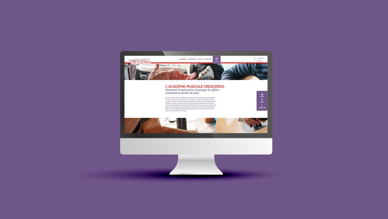 Académie Musicale Créscendo - création site internet