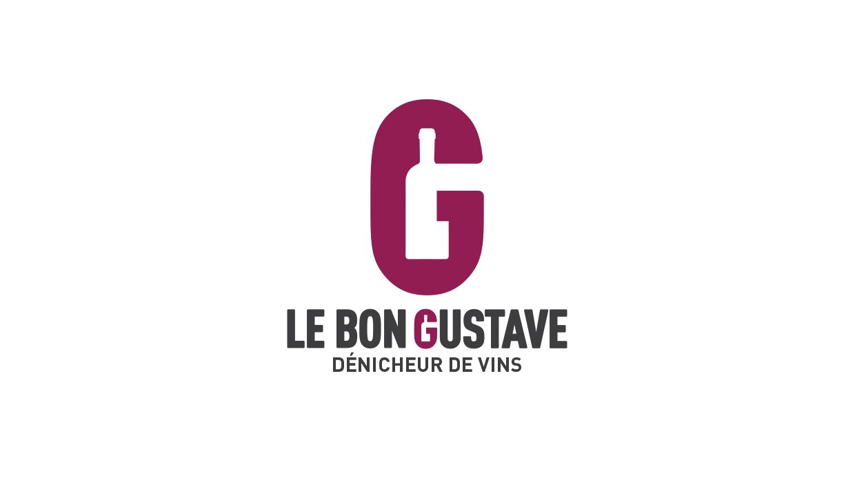 Le Bon Gustave, dénicheur de vin, lyon, création identité visuelle