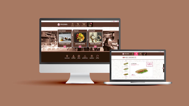 Originel, restaurant Grenoble, création site internet