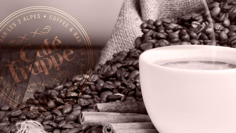 café frappé 2 alpes, création graphique