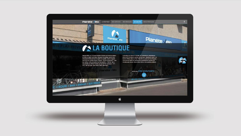 Planète Vélo, Lyon, Caluire, Création site web