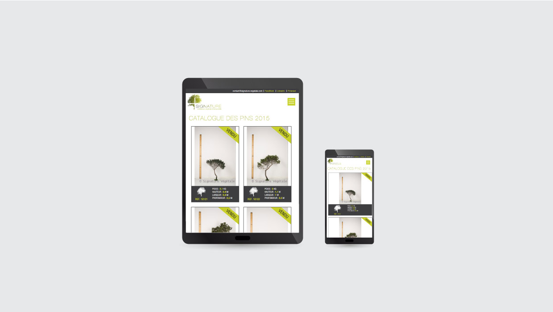 Signature Végétale, webdesign
