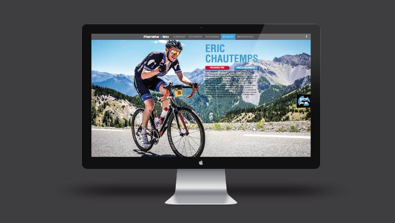 Planète Vélo, Lyon, Caluire, Création webdesign