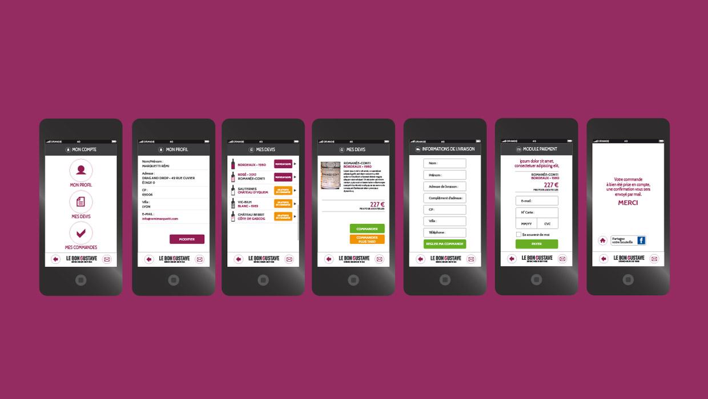 Le Bon Gustave, dénicheur de vin, lyon, webdesign, UX