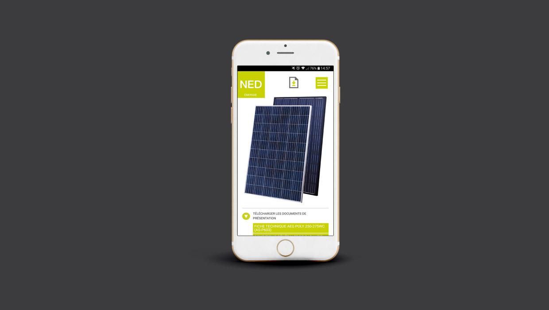 NED, nouvelle énergie Distribution, webdesign