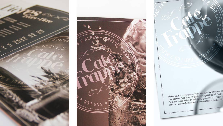 café frappé 2 alpes, identité graphique